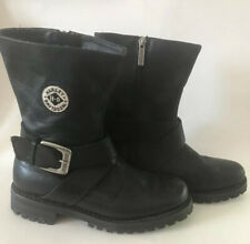 Harley Davidson Motorcycle Boots Size 5 Buckle Leather Harness 84071
