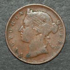 STRAITS SETTLEMENTS 1873 KM# 8 1/2 CENT Copper