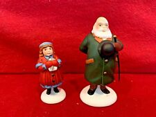 Yes Virginia 2 pc Dept 56 Heritage Village 58890 Christmas accessory girl snow A