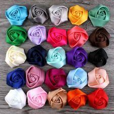 Wedding Bouquet Flower Rose Hair Cloth Fabric Satin Ribbon 10 Pcs/Lot Size 3.5Cm