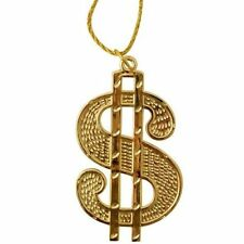 Accessori in oro per carnevale e teatro sul gangster