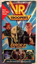 """VR Troopers (Prev. Viewed VHS) """"Error In The System"""" VERY RARE!! HTF!!"""