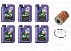 6L Synthetic Engine Oil 10W60 + oil Filter for BMW E46 M3 (2001-2006) Z3 Z4 M