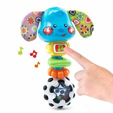 Developmental Toys For 1 Year Olds Kids Boy Girl Cute Pyppy Baby Rattle Toy Blue
