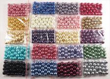 Lot de Perles Nacrées en Verre 8mm, 20 couleurs, 600 pcs