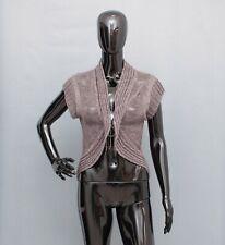 SARAH PACINI Cardigan Cropped Armour Net Top 1 UK 10