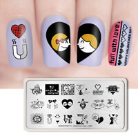 BORN PRETTY Nail Stamping Plates Love Series Valentine's Day-L009 Nail Template