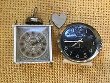 2 Vintage Clocks Big Ben Westclox Repeater And Eurastyle White 1970s Yugoslavia