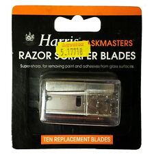 10 Spare Blades for Harris Taskmaster Retractable Paint Razor Scraper