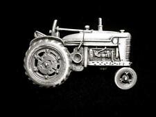 """JJ"" Jonette Jewelry Silver Pewter 'Tractor ~ Farming Equipment' Pin"