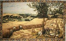 "44"" TAPESTRY WALL HANGING HARVESTERS BY J P BREUGHEL FULLY LINED WITH ROD SLEEVE"
