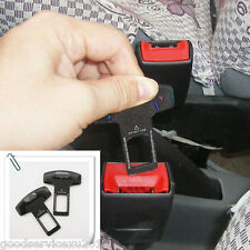 2 x Seat Belt Control Buckle Clasp Insert Plug Eliminate Stop Alarm Fit Kia Auto