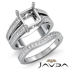 Diamond Engagement Ring Bridal Setting 18k Gold White Princess Semi Mount 1.25Ct