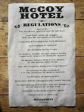 "(281) OLD WEST HOTEL McCOY HOUSE RULES BAR BILLIARD ROOM HATFIELD POSTER 11x17"""