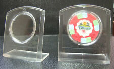 Set 5 Plastic Poker Chips Display Stands Holders with Air Tites Holds Chip*