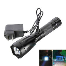 2Pack 3000LM Zoom Rechargeable LED 18650 Flashlight Torch Lamp + AC/Car Charger