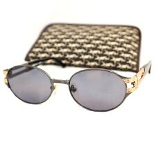 YSL Yves Saint Laurent 31-6705 sunglasses blue gold grey side logo vintage unise