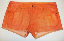 Sinclair MFGRP Wos Size 27 Metallic Orange Fixed Legging Frayed Shorts $159  17