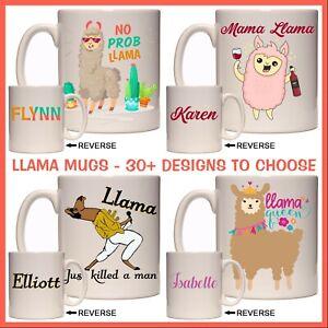 Personalised Llama Mug - No Prob-llama, Drama Llama Queen, Llamacorn, Funny Gift