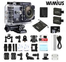 Wimius 4K Ultra 16MP Wifi Waterproof Sport Action Camera 1080P HD DV +8GB card