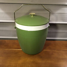 Vintage Green Therm O Ware Thermoware Ice Bucket Olympian Unbreakable