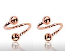 18G 16G ROSE GOLD STEEL SPIRAL RING TWISTER EAR TRAGUS LIP CONCH DAITH BARBELL