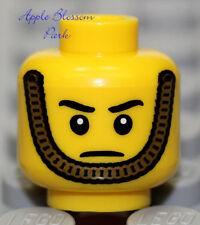 NEW Lego Male/Boy MINIFIG HEAD w/Gold Chin Strap - Police/Nutcracker Toy Soldier