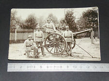 CPA GUERRE 14-18 1918 POILUS ARMEE MILITARIA PIECE ARTILLERIE CARTE PHOTO