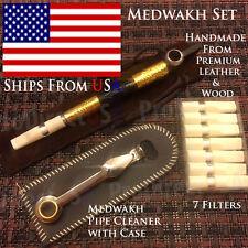 Traditional Iranian Wooden Medwakh Arabian UAE Dokha Tobacco Smoking Pipe SET W7