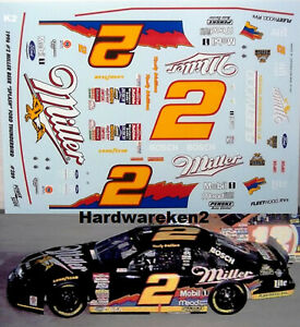 NASCAR DECAL # 2 MILLER GENUINE DRAFT SPLASH 1996 FORD THUNDERBIRD RUSTY WALLACE