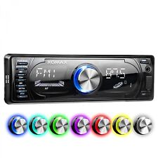 RADIO DE COCHE CON 7 COLORES BLUETOOTH MANOS LIBRES RDS USB SD MP3 AUX AUTORADIO