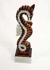 Nautical Seahorse on Stand Hand Carved Fair Trade Bathroom Shelf Ornament Figure