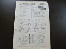 Original Service Manual Car Radio Philips ND 541v Auto Super