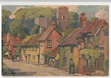 Sussex; Bramber Village, Artist Signed By G Wolseley PPC, 1930's, By J Salmon