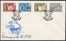 JERSEY Islands 1974 UPU ☀ Union Postale Universelle 1874-1974 ☀ FDC cover