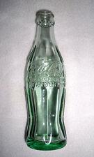 VTG COCA COLA Hobbleskirt Christmas Bottle; SOMERSWORTH, NH; Dec.25, 1923;Empty