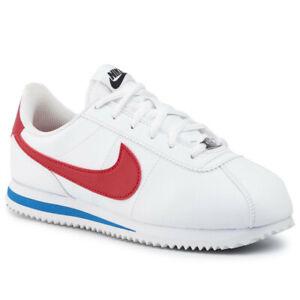Nike Cortez Basic SL GS 904764-103 White Red Blue Forest Gump Kids NEW