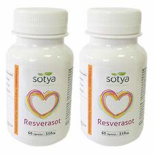 2 x RESVERASOT 60 Cápsulas - 73,5 mg Resveratrol por cápsula - SOTYA