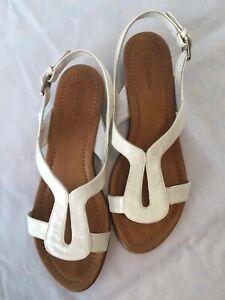 Hobbs Patent White Sandals, size 5 UK - Used
