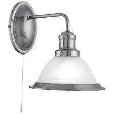 APLIQUE INTERRUPTOR DE CUERDA satinado Plata Cristal Blanco Lámpara LED