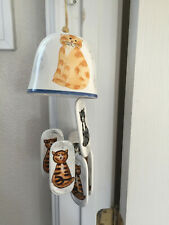 New listing Creatively Yours Cat Kitten Hand Painted Karen De Alwis Vintage Wind Chime Cute