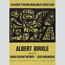 Albert Birkle. Fensterentwürfe, Zeichnungen. Ausstellungsplakat Berlin 1965