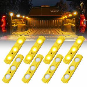 Xprite 8 Pod LED Cargo Bed Light Panel Car Truck Pickup Neon Light Strip Yellow