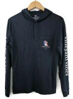 Vineyard Vines Men's America's Cup Long-sleeve Hoodie Pocket T-Shirt Size XS
