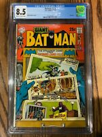 GIANT BATMAN #218 THE STRANGEST TALES FROM BATMAN'S CRIME LIFE DC COMICS CGC 8.5