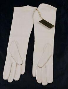 Vintage Ladies Dawnelle White Kid Leather Gloves 6 Lined Multiple Available