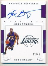 KOBE BRYANT 2017/18 NATIONAL TREASURES ON CARD AUTOGRAPH LAKERS AUTO SP #22/49