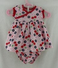 """Doll Clothes Carter's Infant Dress Floral Newborn Outfit W/Diaper Cover 20""""-24"""""""