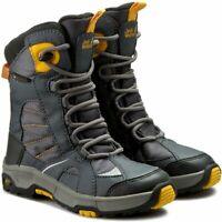 JACK WOLFSKIN Boys Snow Ride Texapore  Boots  Burly Yellow XT Size UK 8  EU 26