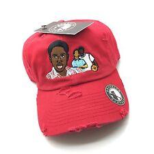 Red Distressed The Wood Movie 90s Retro Vtg Dad Cap Hat